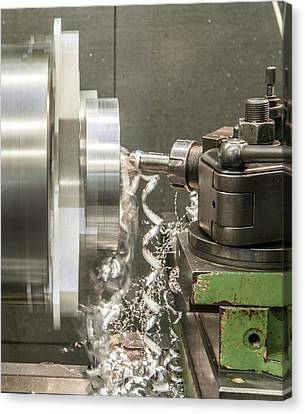 Metal Tooling Shop Floor Canvas Print by Photostock-israel