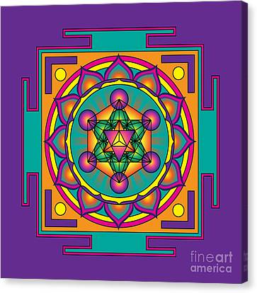 Metatron's Cube Merkaba Mandala Canvas Print by Galactic  Mantra