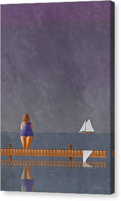 Mgl - Bathers 01 Canvas Print