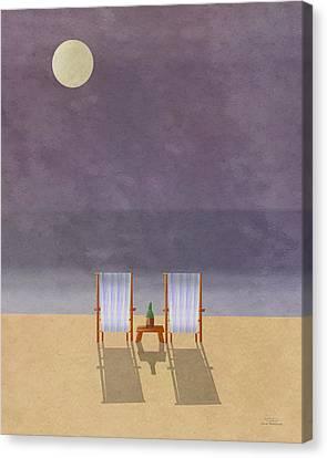 Mgl - Bathers And Coast 04 Canvas Print