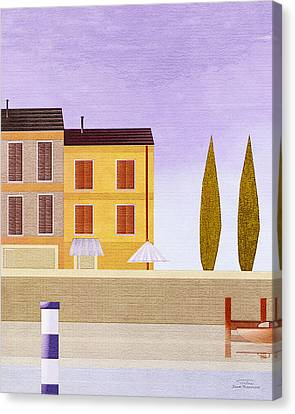 Mgl - Bathers And Coast 06 Canvas Print by Joost Hogervorst