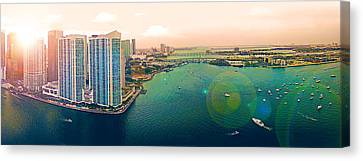 1 Miami Canvas Print by Michael Guirguis