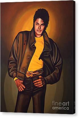 Michael Jackson Canvas Print by Paul Meijering