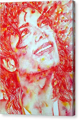 Michael Jackson - Watercolor Portrait.2 Canvas Print by Fabrizio Cassetta