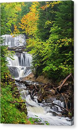 Michigan Waterfalls Canvas Print - Michigan, Pictured Rocks National by Jamie and Judy Wild