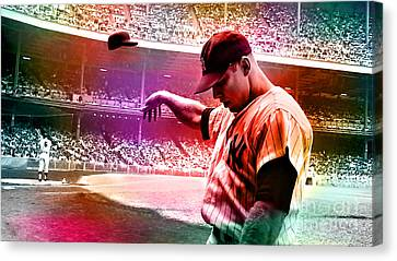 Mickey Mantle Canvas Print by Marvin Blaine