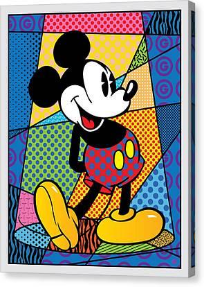 Mickey Spotlight Canvas Print by Gary Grayson
