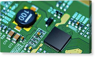 Microchip On Printed Circuit Board Canvas Print