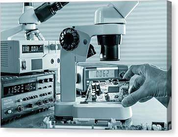 Laboratory Equipment Canvas Print - Microelectronic Device by Wladimir Bulgar