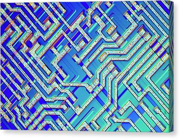 Microprocessor Chip Canvas Print