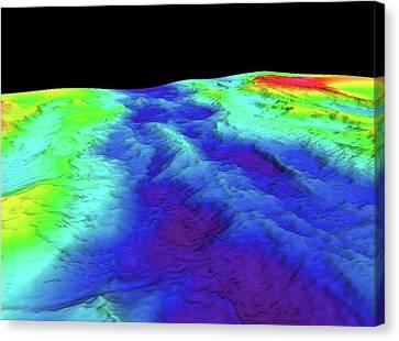 Mid-atlantic Ridge Canvas Print by B. Murton/southampton Oceanography Centre