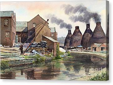 Middleport Pottery Canvas Print by Anthony Forster