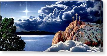 Midnight At Calvary 2 Canvas Print by Ron Chambers