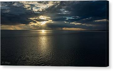 Midnight Sun Over Mount Susitna Canvas Print by Andrew Matwijec