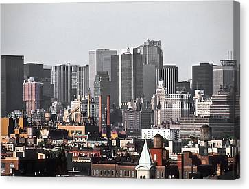 Midtown Manhattan 1978 Canvas Print
