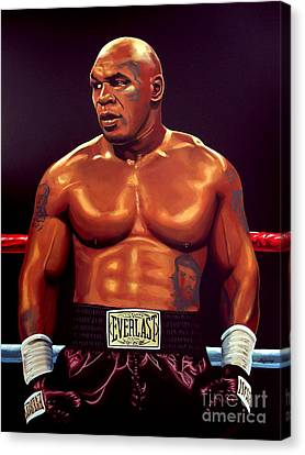 Mike Tyson Canvas Print by Paul Meijering