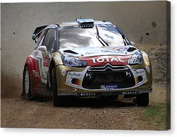 Mikko Hirvonen Fia World Rally Championship Australia Canvas Print by Noel Elliot