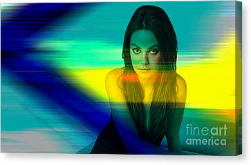 Mila Kunis Canvas Print by Marvin Blaine