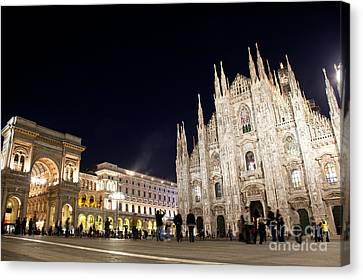 Milan Cathedral Vittorio Emanuele II Gallery Italy Canvas Print