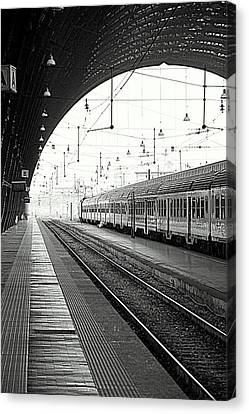 Milan Central Station Canvas Print by Valentino Visentini