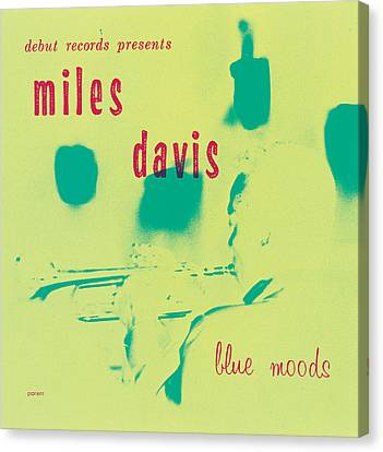 Miles Davis -  Blue Moods Canvas Print by Concord Music Group