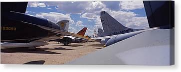 Military Airplanes At Davismonthan Air Canvas Print