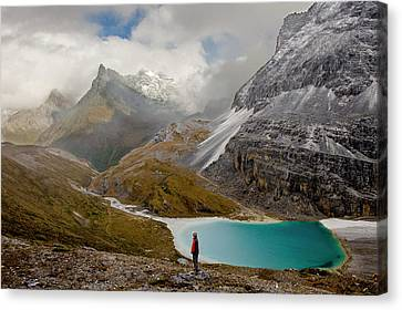 Milk Lake And Clearing Storm, Yading Canvas Print