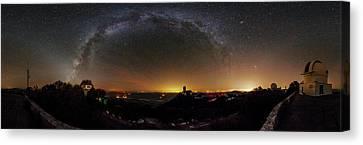 Milky Way Over Kitt Peak Observatory Canvas Print by Babak Tafreshi