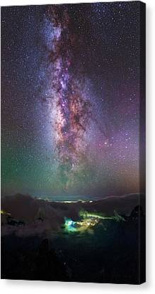 Milky Way Over La Palma Canvas Print