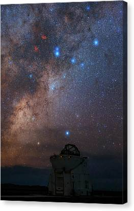 Nebula Canvas Print - Milky Way Over Paranal Observatory by Babak Tafreshi