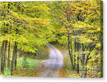 Miller Hill Road In Fall Canvas Print