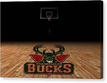 Milwaukee Bucks Canvas Print by Joe Hamilton