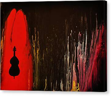 Canvas Print featuring the painting Mingus by Michael Cross