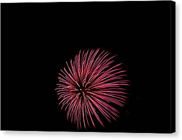 Flooding Canvas Print - Minnesota, Mendota Heights, Fireworks by Bernard Friel
