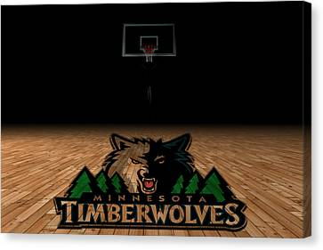 Benches Canvas Print - Minnesota Timberwolves by Joe Hamilton
