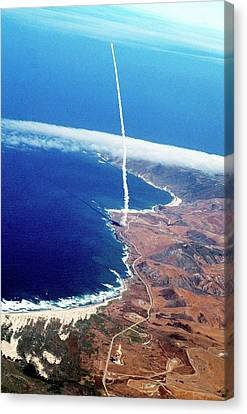Minuteman Nuclear Missile Launch Canvas Print by Us National Archives