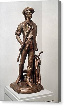 Minutemen Soldier Canvas Print by Granger
