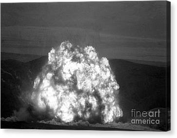 Missile Being Destroyed In Kazakhstan Canvas Print by RIA Novosti