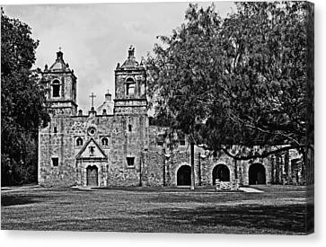 Canvas Print featuring the photograph Mission Concepcion by Andy Crawford