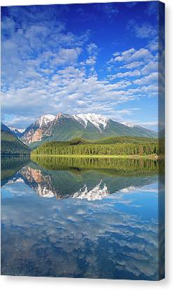 Ignatius Canvas Print - Mission Reservoir Reflecting Peaks by Chuck Haney