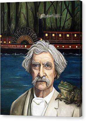 Mississippi Sam Canvas Print by Leah Saulnier The Painting Maniac