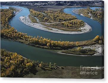 Missouri And Yellowstone Rivers Canvas Print by Farrell Grehan