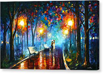 Figures Canvas Print - Misty Mood by Leonid Afremov