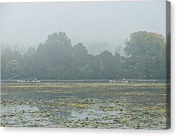 Misty Morning  Canvas Print by Peter Olsen