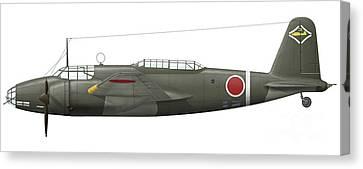Mitsubishi Ki-21 Bomber Of The Imperial Canvas Print