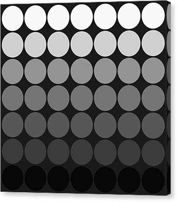 Mod Pop Gradient Circles Black And White Canvas Print