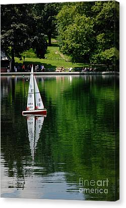Nyc Canvas Print - Model Boat Basin Central Park by Amy Cicconi