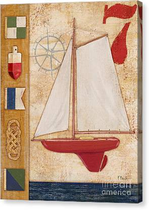 Model Yacht Collage II Canvas Print