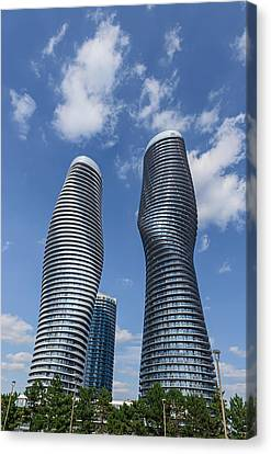 Modern Condos In Mississauga Ontario Canada Canvas Print