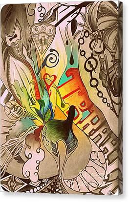 Modern Fell Canvas Print by Mylene Le Bouthillier